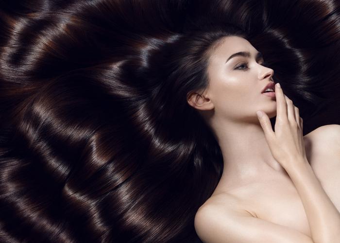 Black wavy shiny hair - new york hair photographer - toufic araman