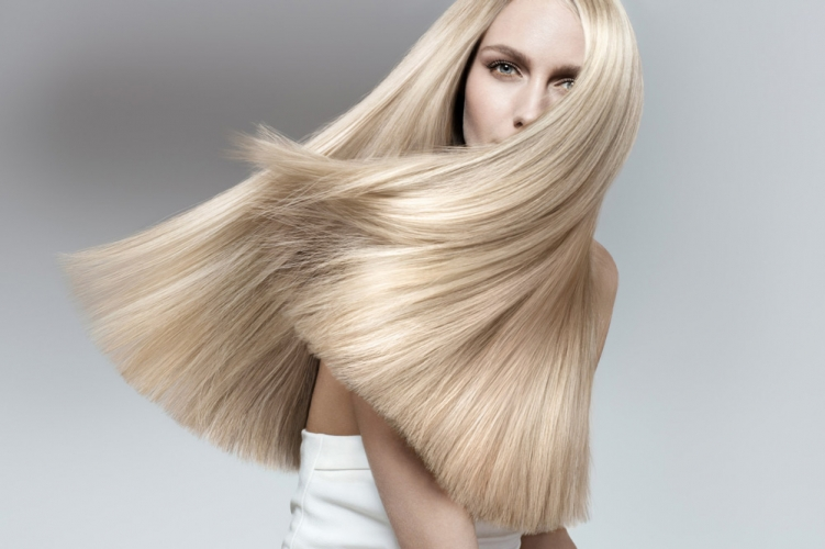New York hair photographer long straight blonde hair model Araman