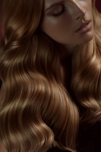 New York hair photographer long wavy copper bronze hair model - toufic araman